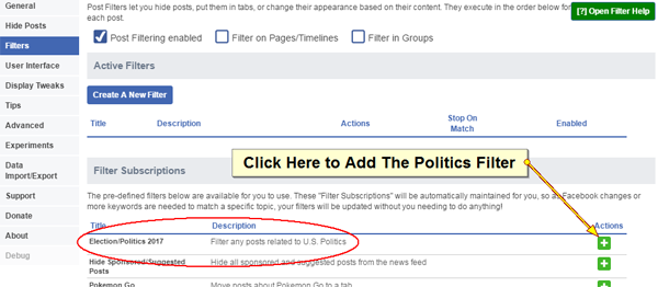 Sick of Politics on Facebook? Now You Can Filter Your News Feed